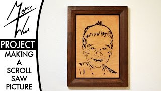 ㎿ A Framed Scroll Saw Portrait - Mother's Day 2015