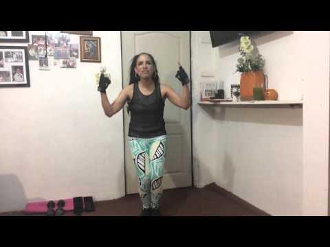 Ejercicios para hacer en casa con musica cristiana. Gimnasio Lorena. 2o. video del 2016.