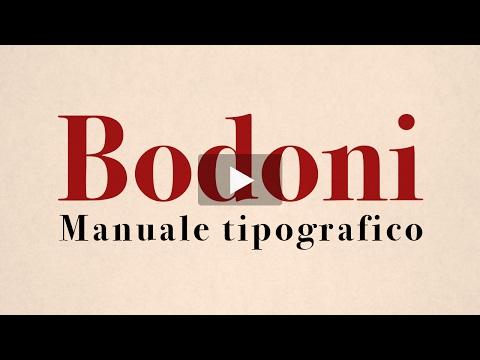 Bodoni - Manuale Tipografico