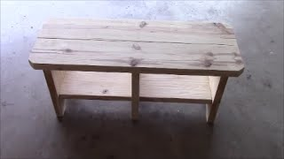 How To Build A Back To School Bench