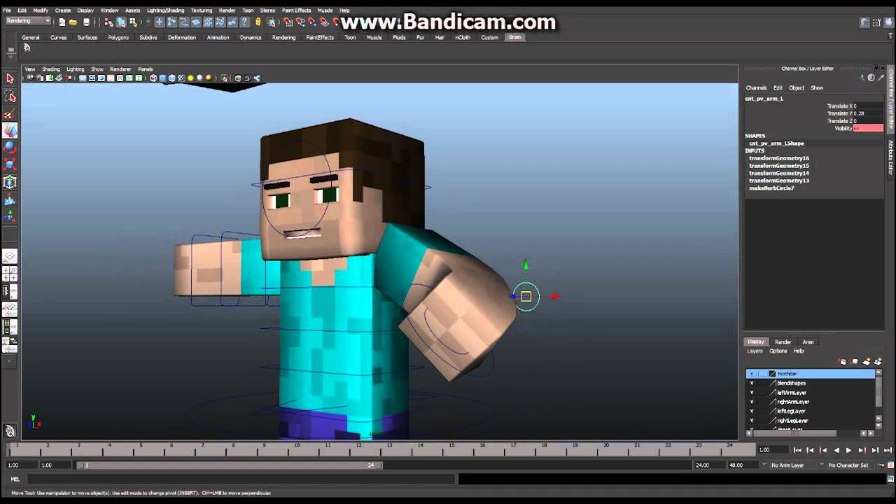 Minecraft maya tutorial how to build your character ep 1 minecraft maya tutorial how to build your character ep 1 modeling youtube ccuart Images