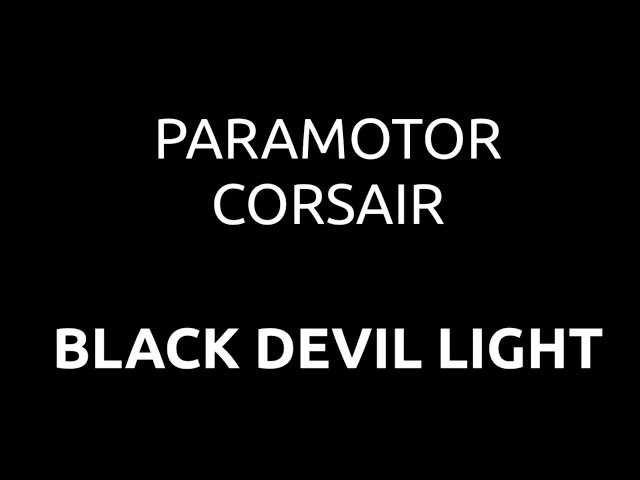 PXP Paramotor - Corsair Black Devil Light
