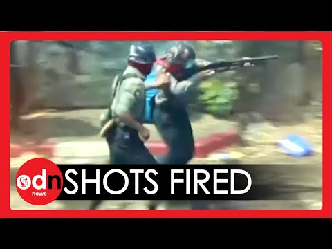 Shocking Moment Myanmar Military Opens Fire on Anti-Coup Protesters