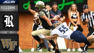 Rice vs Wake Forest Full Game | 2018 ACC Football