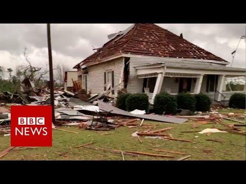 Over 20 people dead as tornado hits Alabama - BBC News