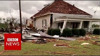 Over 20 people dead as tornado hits Alabama - BBC News