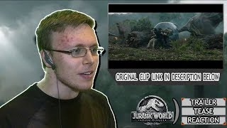 Jurassic World: Fallen Kingdom Trailer Tease Reaction