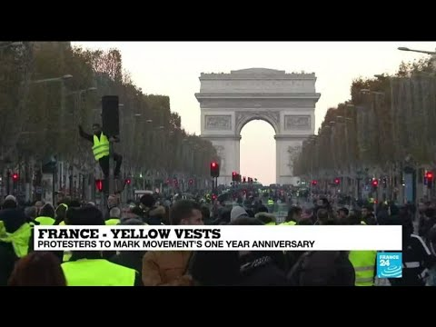 France's Yellow Vests set for nationwide protests to mark anniversary