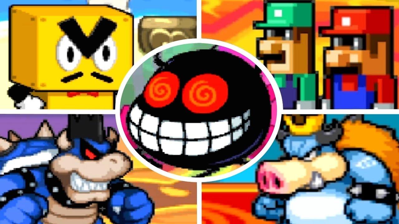 Mario & Luigi: Bowser's Inside Story - All Bosses (No Damage)