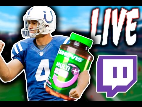 Adam Vinatieri QB SACK LIVE! + Eating Pregnancy Pills??!? Twitch Stream Highlights!