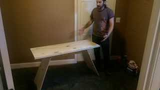 Building A Simple Modern Plywood Desk