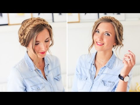 How To: MilkMaid Braid Up-do | Luxy Hair
