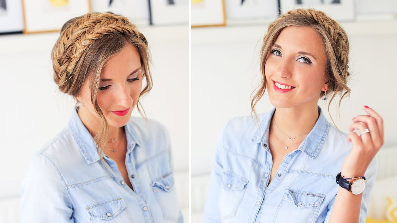 Watch Video Tutorial: The Reverse Milkmaid Braid video