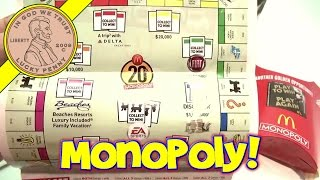 2012 McDonald's Monopoly Game Board and Game Pieces - Play To Win!