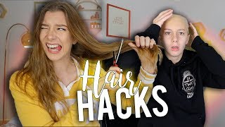 THE EASIEST HAIR HACKS EVER!!   Georgia Productions
