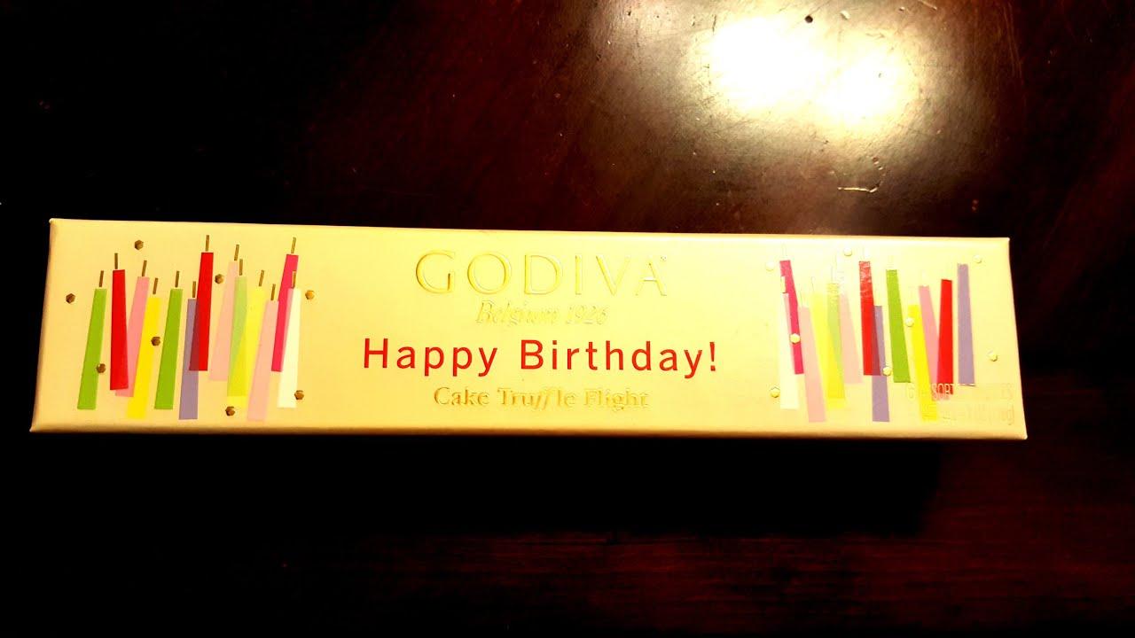 Godiva Happy Birthday Truffle Flight Youtube