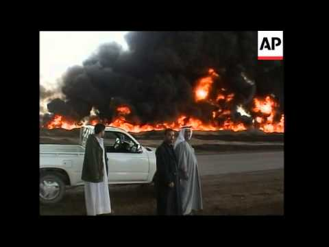 Fires rages near oil pipeline in northern Iraq