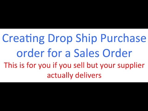 Datamoto: Creating Drop Ship Purchase order for a Sales Order