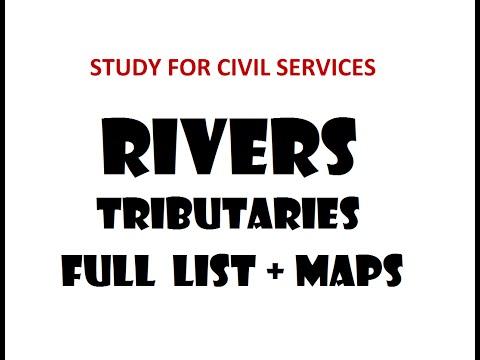 RIVERS + tributaries- FULL  LIST + Maps  for UPSC/IAS/PCS/SSC/Banking/Railway