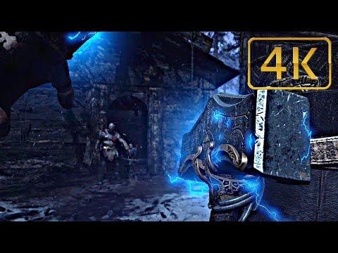 Kratos Meets Thor  God Of War 2018 Game