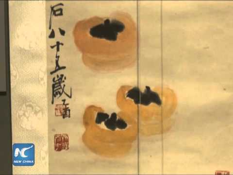 China's painting master Qi Baishi's works shown in the U.S.