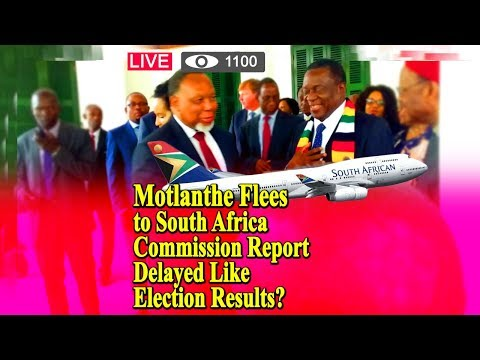 Motlanthe Flees to South Africa, Commission Report Delayed Like Election Results? What Happened?