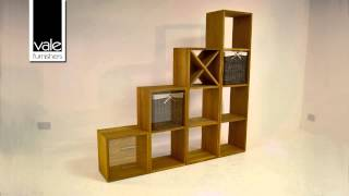 Contemporary Oak Modular Storage Units