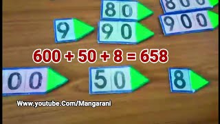 Maths tlm for primary school, place value arrows,