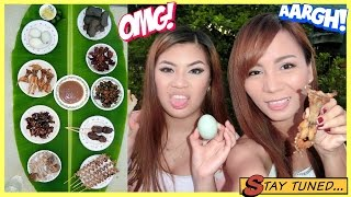 ASIANS TRY FILIPINO EXOTIC FOOD!!