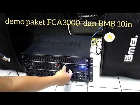Demo Paket Sound Karaoke BMB 10 in dan FCA 3000 ampli