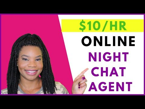 Work From Home Overnight Customer Chat Agent | Online, Remote Work-At-Home Jobs August 2019