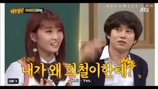 Những khoảnh khắc tình cảm của heechul và Momo trên sân khấu, trước khi công khai yêu nhau