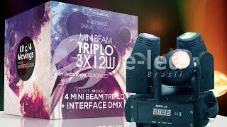 Mini Moving Head Beam 12W Triplo 3x12W RGBW Infinite