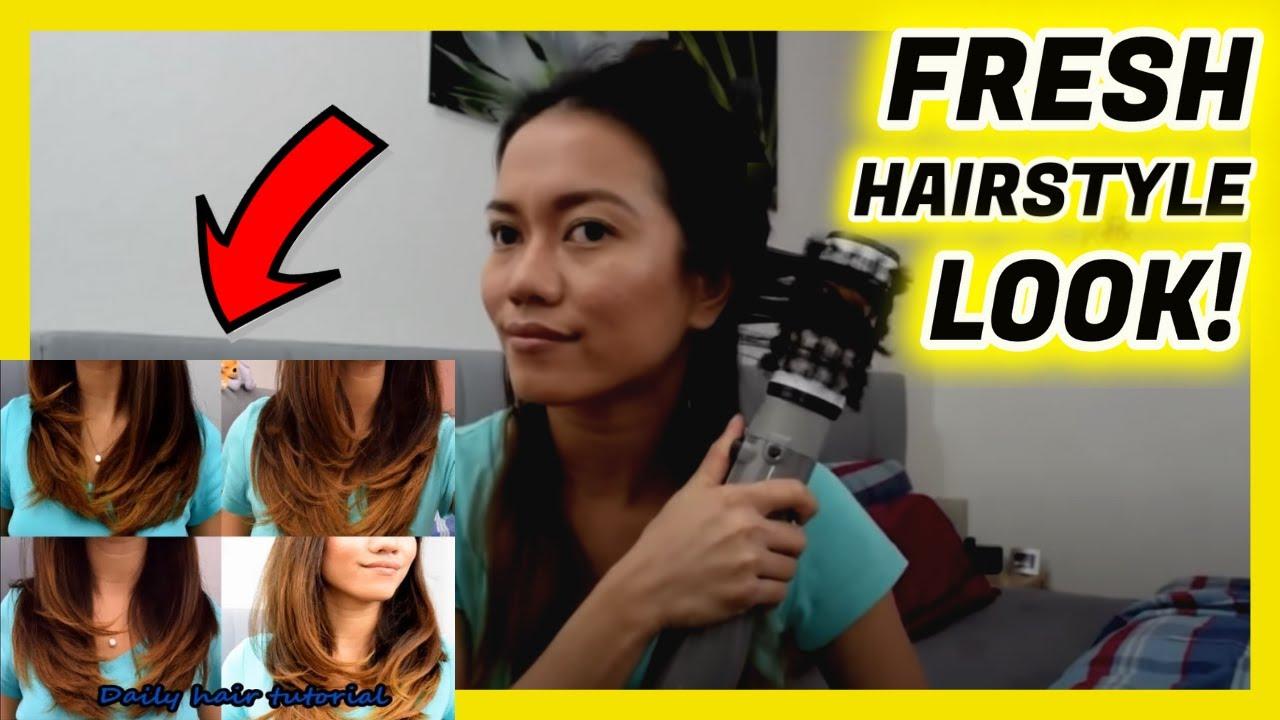my daily hairstyle tutorial using BaByliss 2735E Brush ...