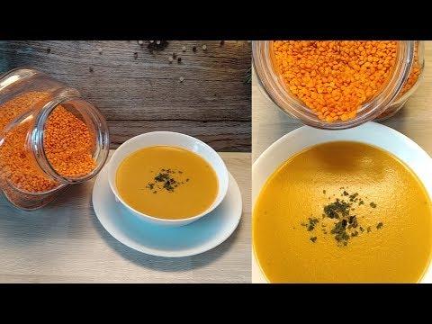 soupe-de-lentilles-corail-à-l'indienne-🇮🇳👌au-monsieur-cuisine-plus-ou-thermomix