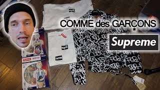 SUPREME x CDG PICKUPS! SPLIT BOX LOGOS FW18 WEEK 4