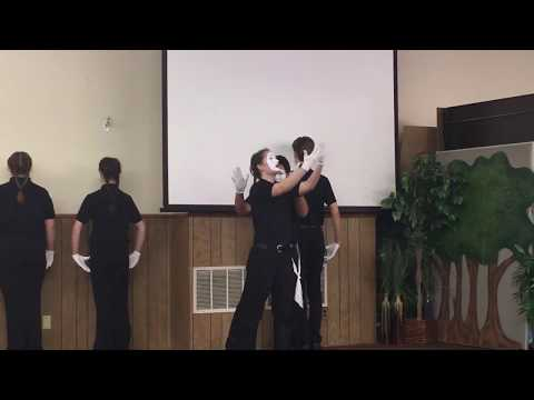 Agape performs Piece by Piece at New Harvest Christian School