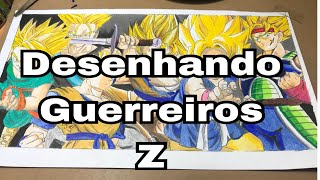 speed drawing  guerreiros z,dragonball z