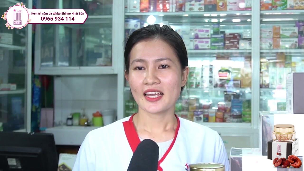 Dược sĩ Tuyết tại nhà thuốc An Tâm chia sẽ giải pháp làm mờ nám da nhờ kem White Shinno Nhật Bản