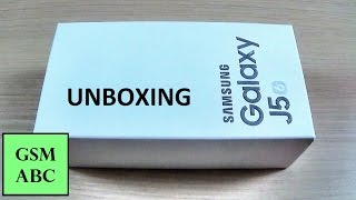 Samsung Galaxy J5 (2016) UNBOXING/ First Look