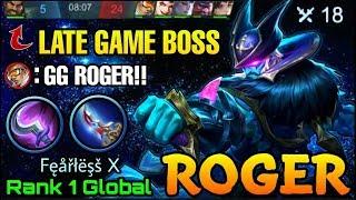 Roger Late Game Comeback with High Physical DMG Build - Top 1 Global Roger Fęåřłëşš X - MLBB