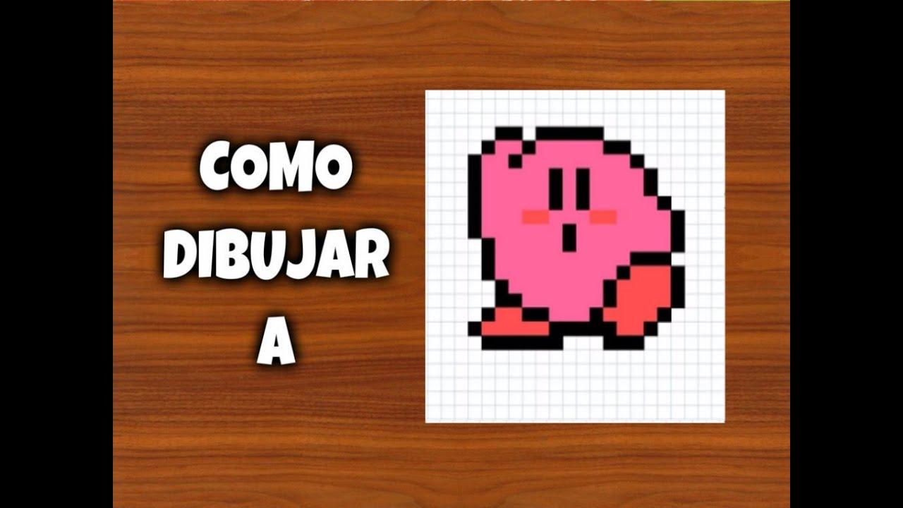 2f8035c2ff Como dibujar a Kirby | Para Minecraft | Pixel Art | How to draw Kirby
