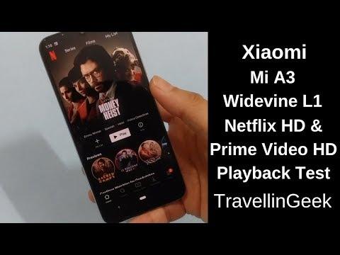 Xiaomi Mi A3 Widevine L1 | Netflix / Amazon Prime Video HD Support