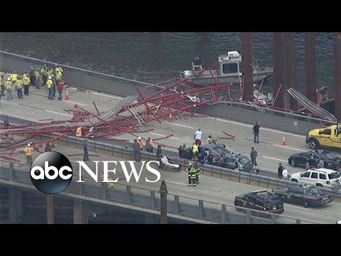 Crane Collapses on New York Bridge