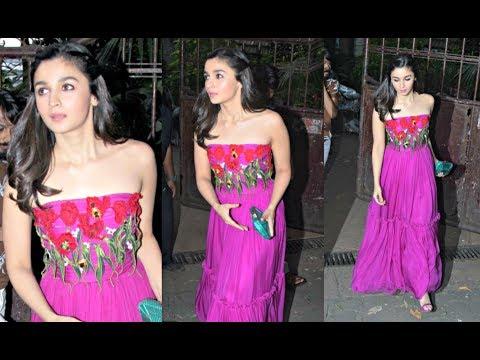 Alia Bhatt Looks Like Princess In Pink Dress