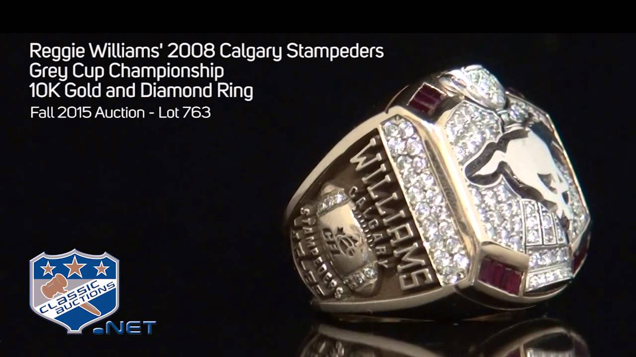 Reggie Williams 2008 Calgary Stampeders Grey Cup Championship 10K