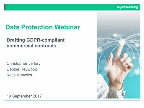 Data Protection - drafting GDPR-compliant commercial contracts