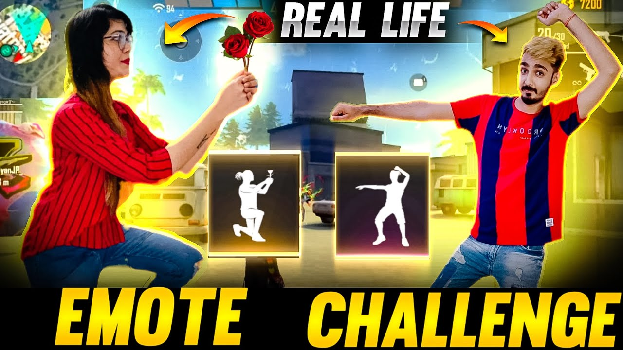 Free Fire Emote Challenge In Real Life ❤️ AAWARA vs Bindass Laila || Free Fire