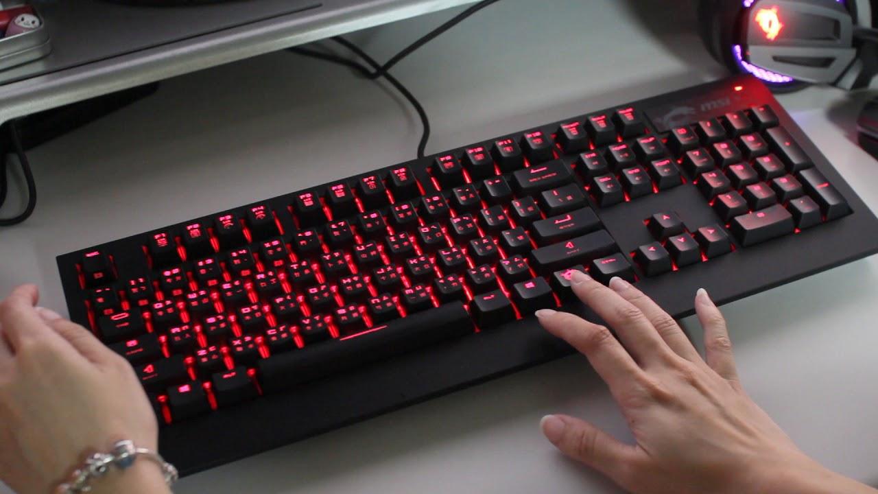 c0fec76a4ba 原價屋】MSI GK-701 RGB機械式鍵盤(Cherry MX銀軸)-燈光模式! - YouTube