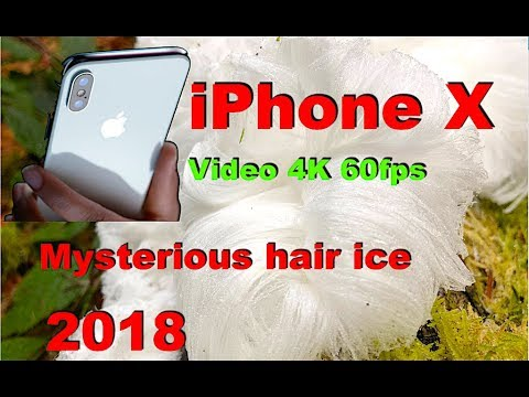 Mysterious hair ice 4K Video iPhone X